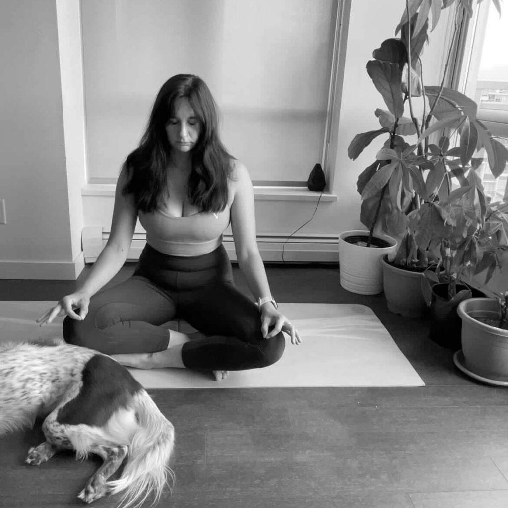 My Irish yoga student Caiomhe meditating